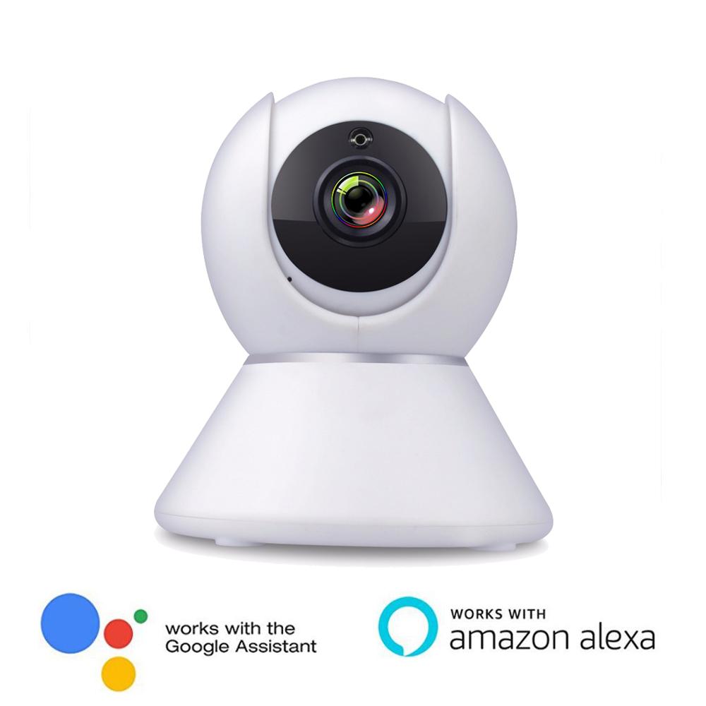 Tuya app 720p ir p2p wifi robot camera working with Alexa and Google